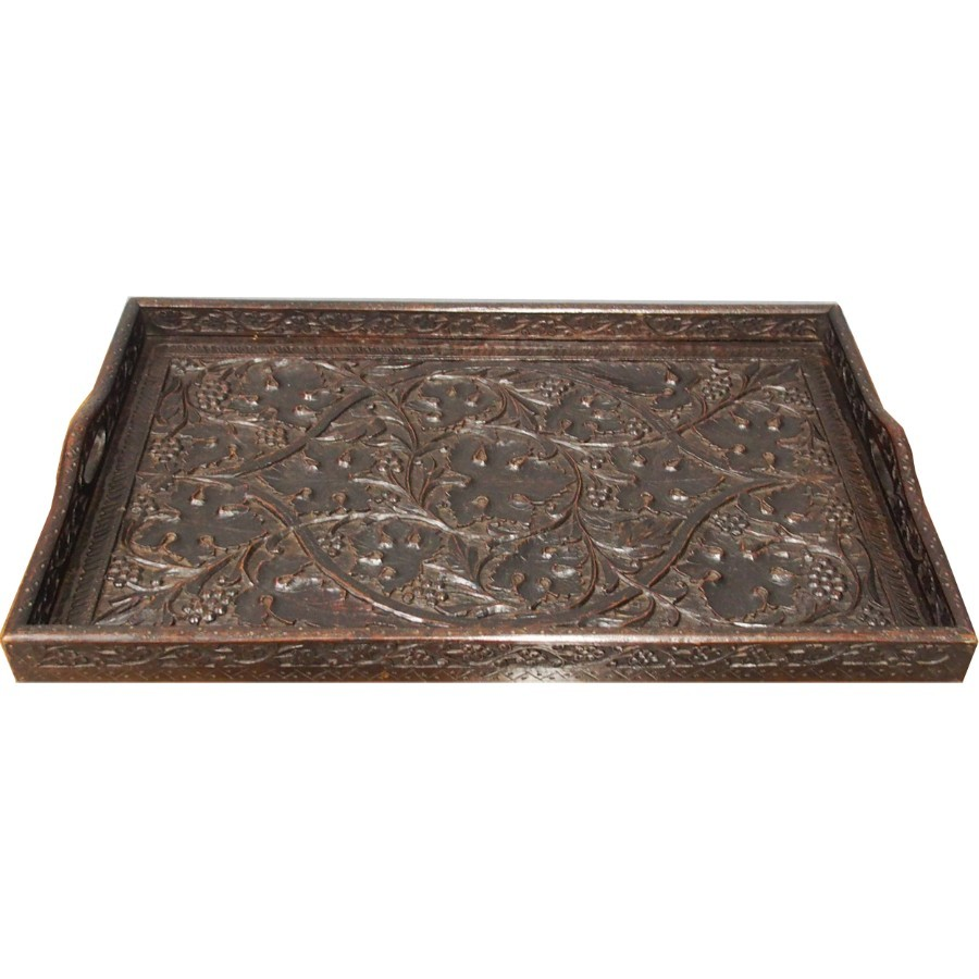 Carved Hardwood Tray