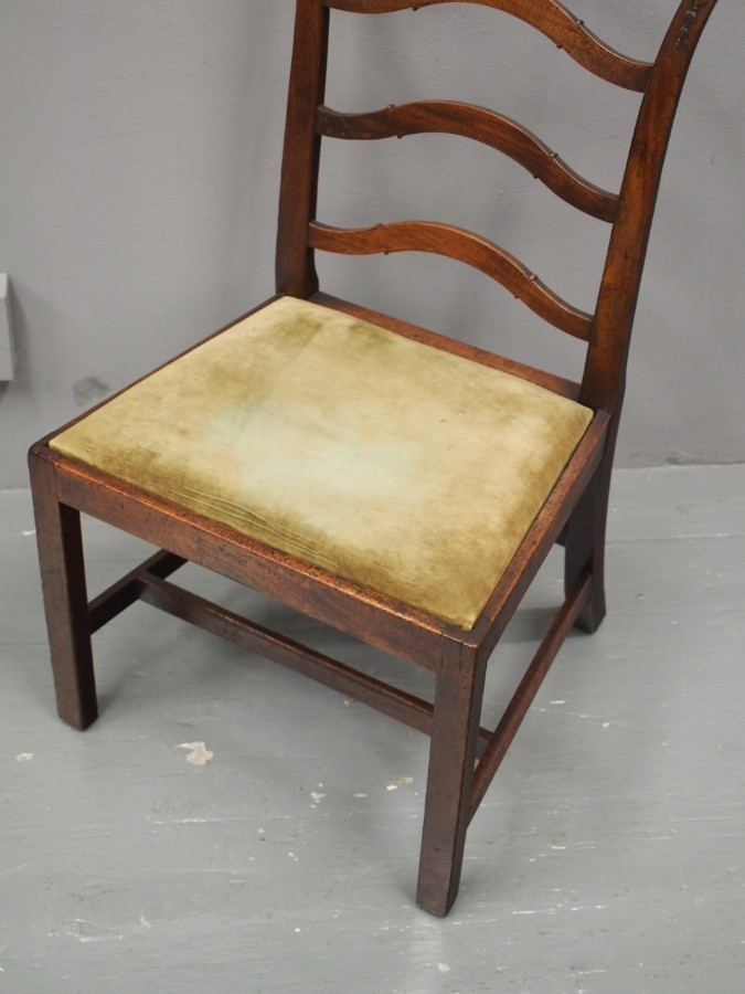 Antique George III Ladderback Chair