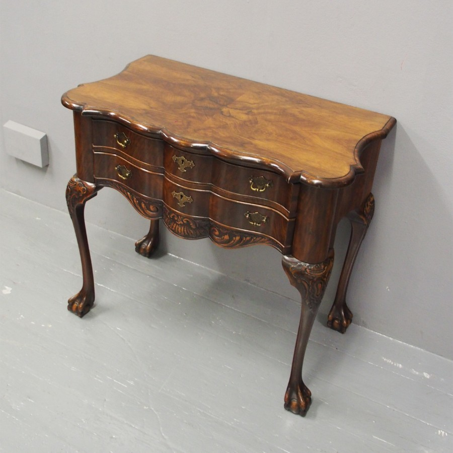Dutch Figured Walnut Lowboy