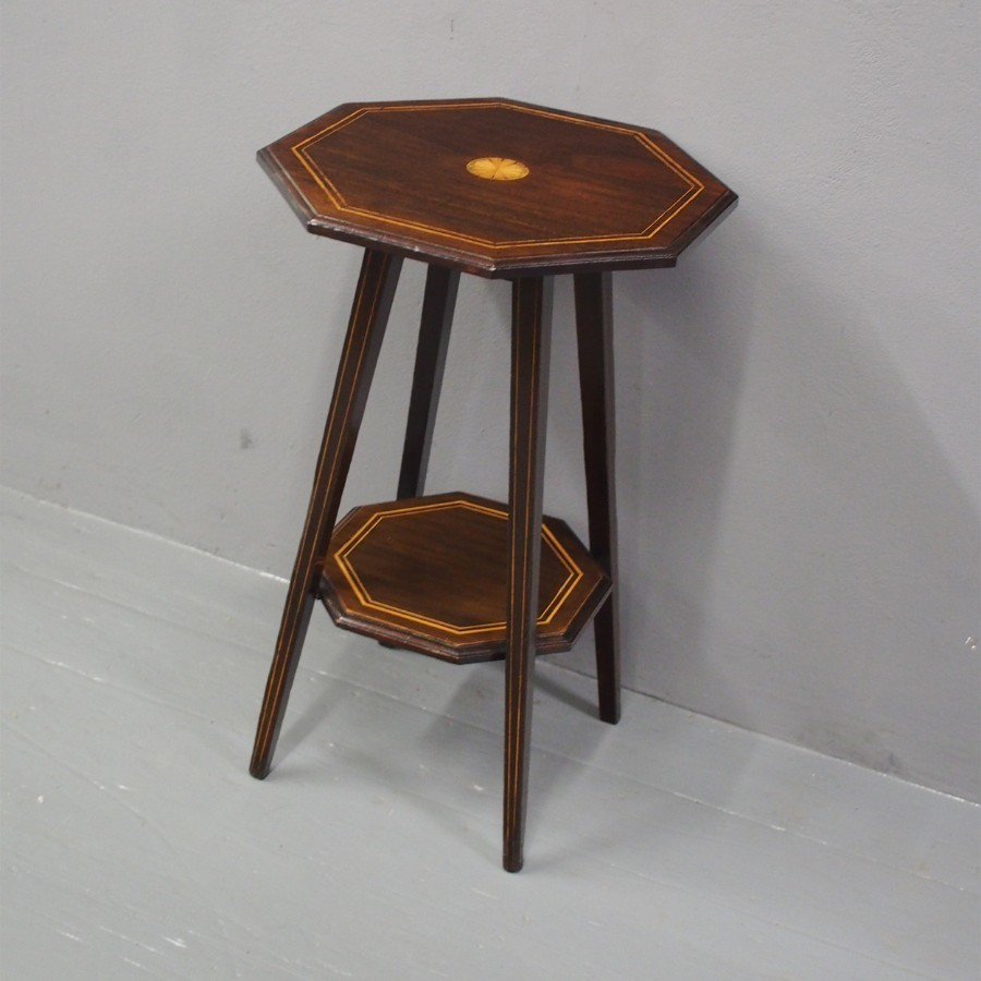 Edwardian Inlaid Mahogany Occasional Table
