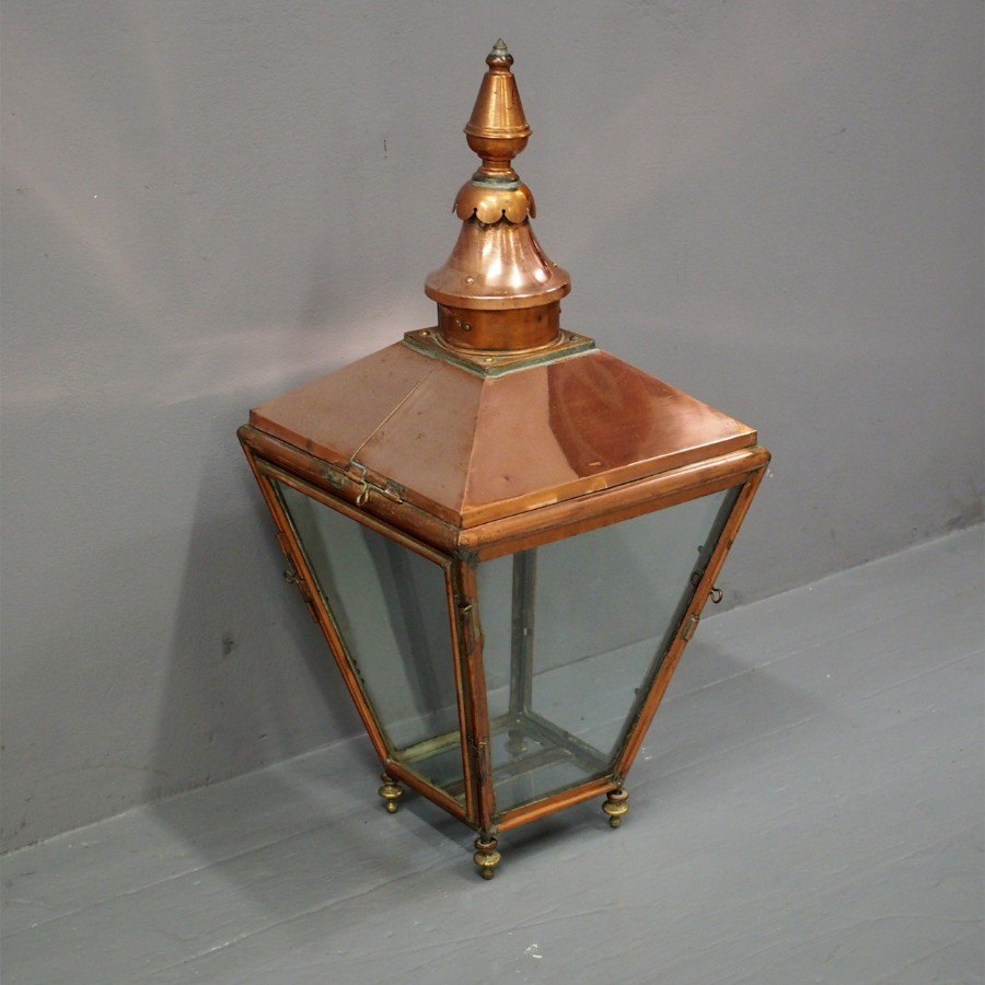 Victorian Copper Gas Street Lamp