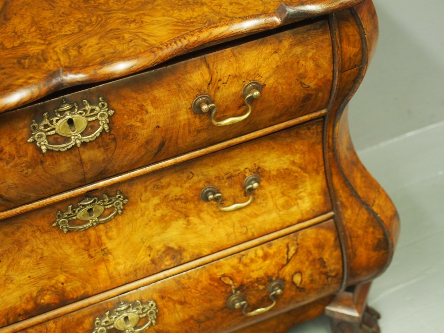 Antique Dutch Bombe Chest of Drawers