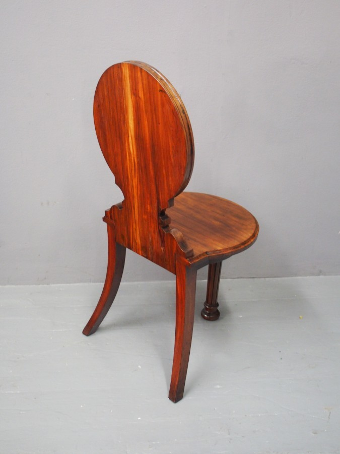 Antique Sabicu Hall Chair by J Whitehead
