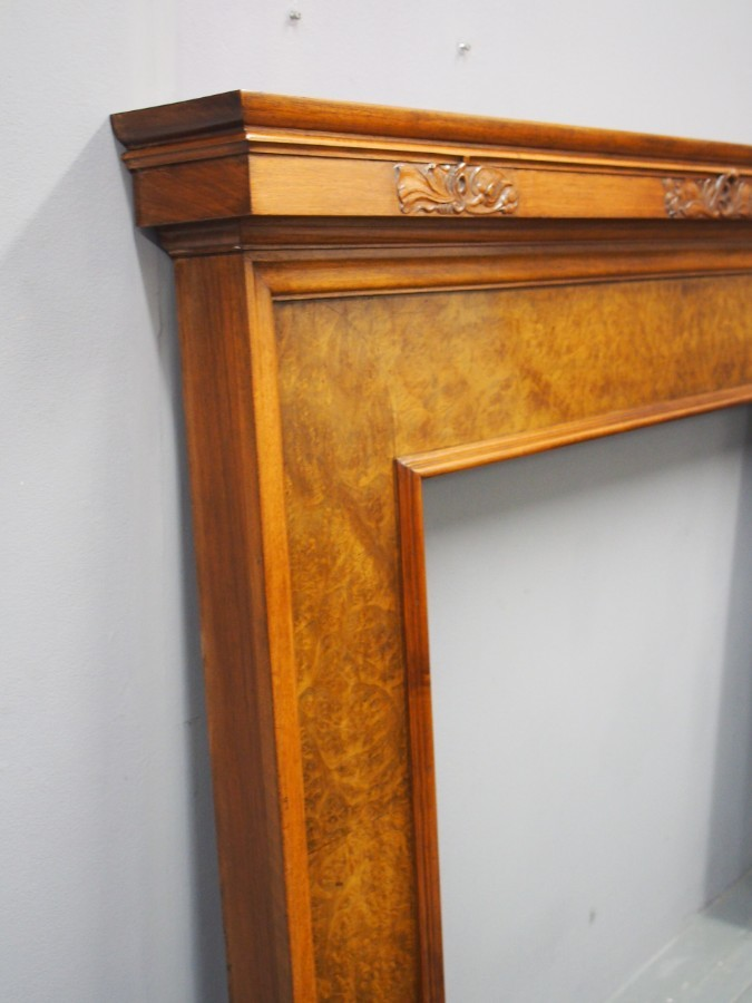 Antique Walnut Mantelpiece by Whytock and Reid