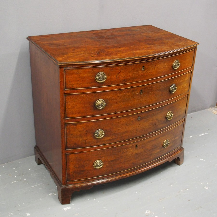 George III Bow Front Chest of Drawers