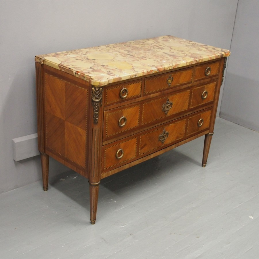 French Louis XV Style Walnut Commode