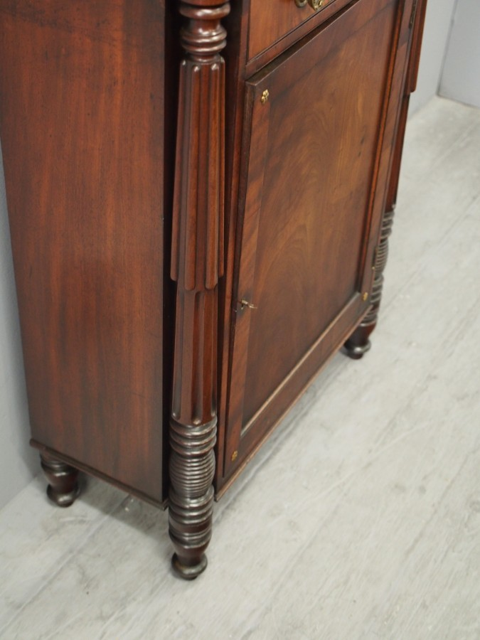 Antique Narrow George IV Mahogany Chiffonier