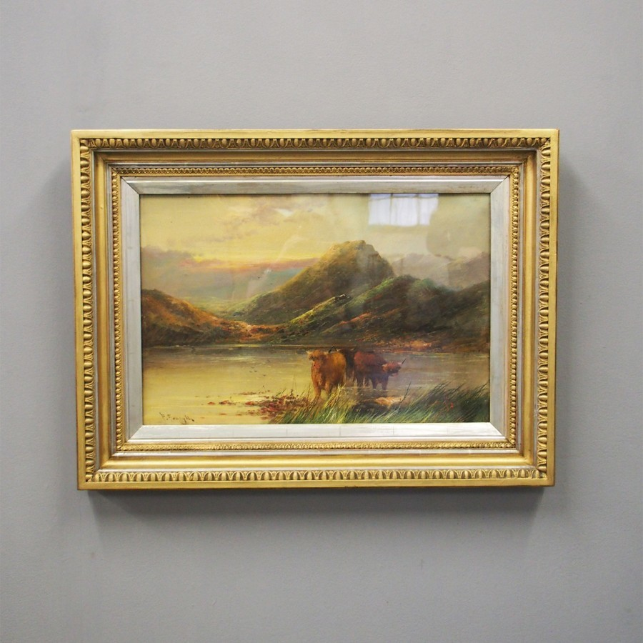 Scottish Highland Scene, Oil on Canvas, by F Forsythe