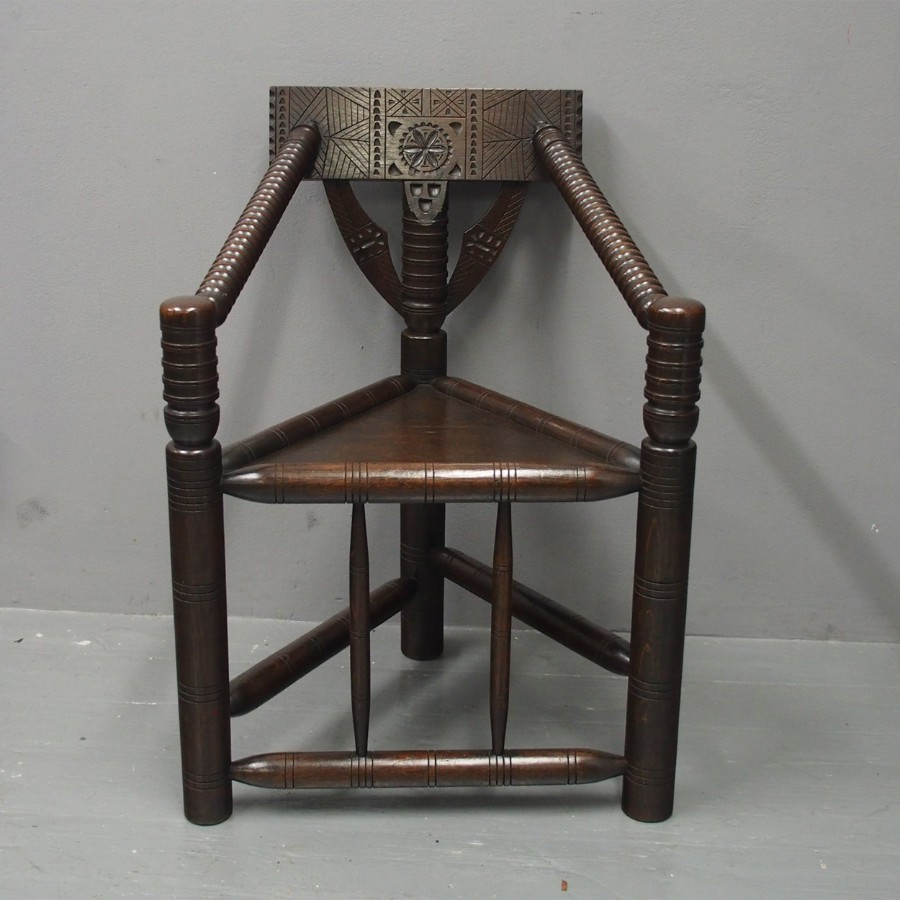 Charles II Style Oak Turners Chair