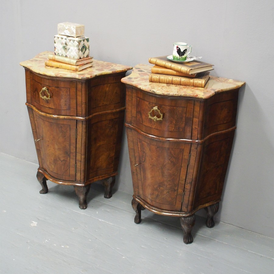 Pair of Victorian Italian Bedsides or Pedestals