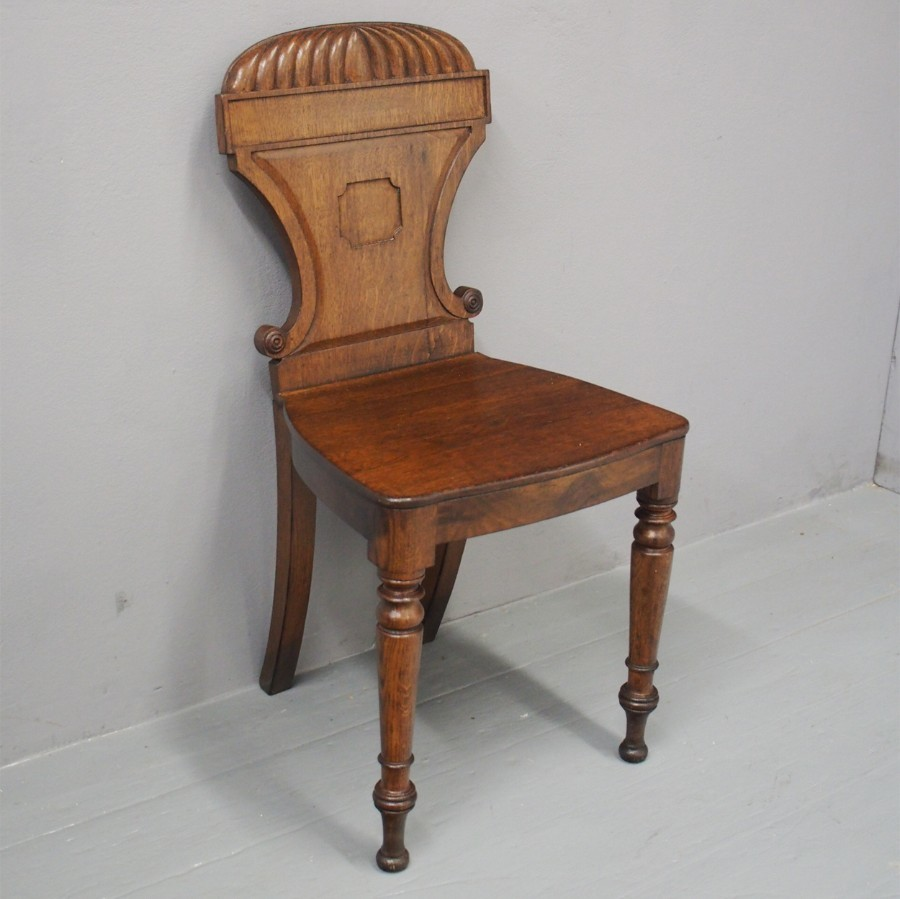 George IV Oak Hall Chair