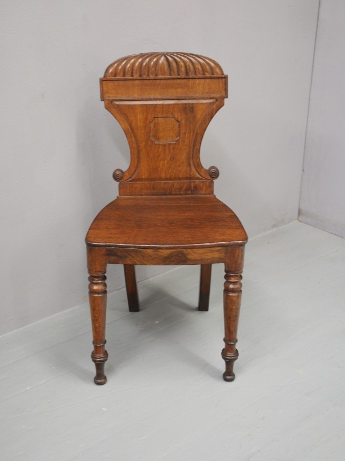 Antique George IV Oak Hall Chair
