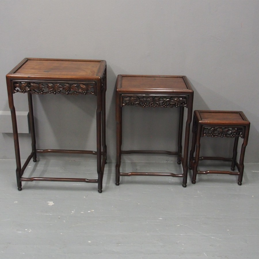 Nest of 3 Chinese Huanghuali Tables