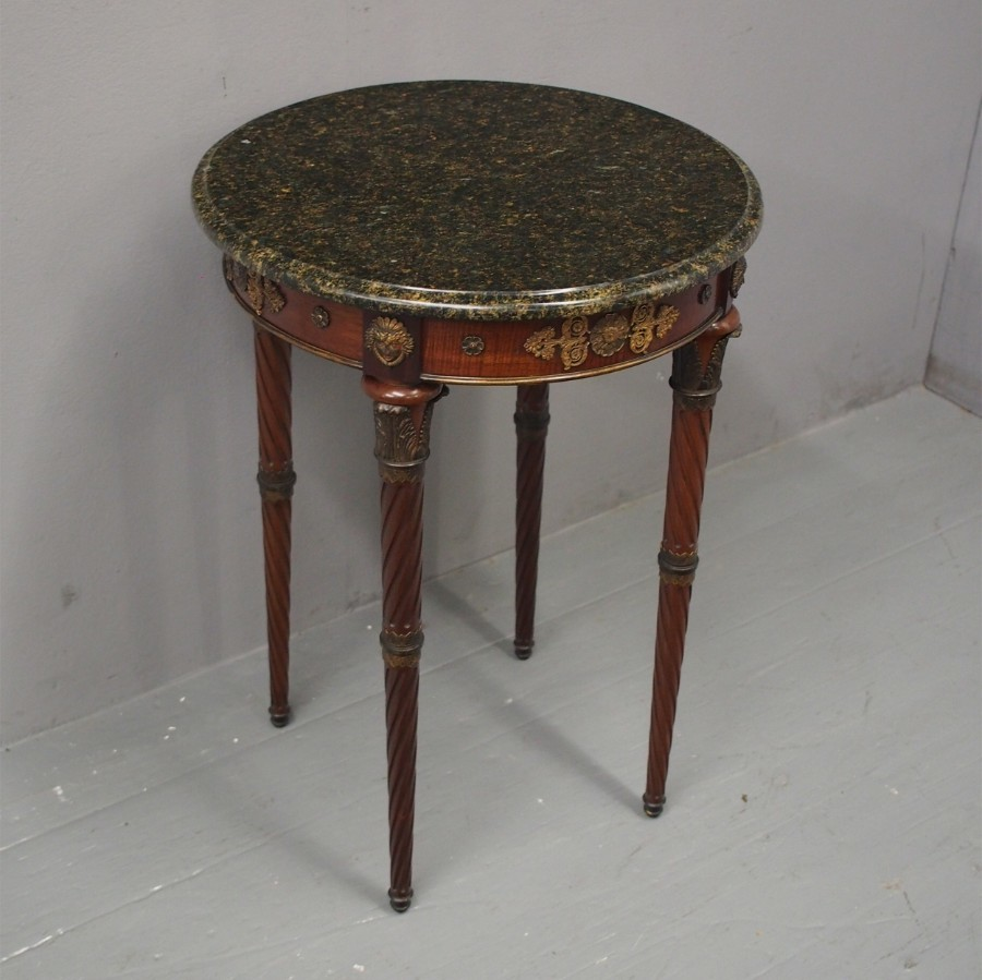 French Marble Top Occasional Table