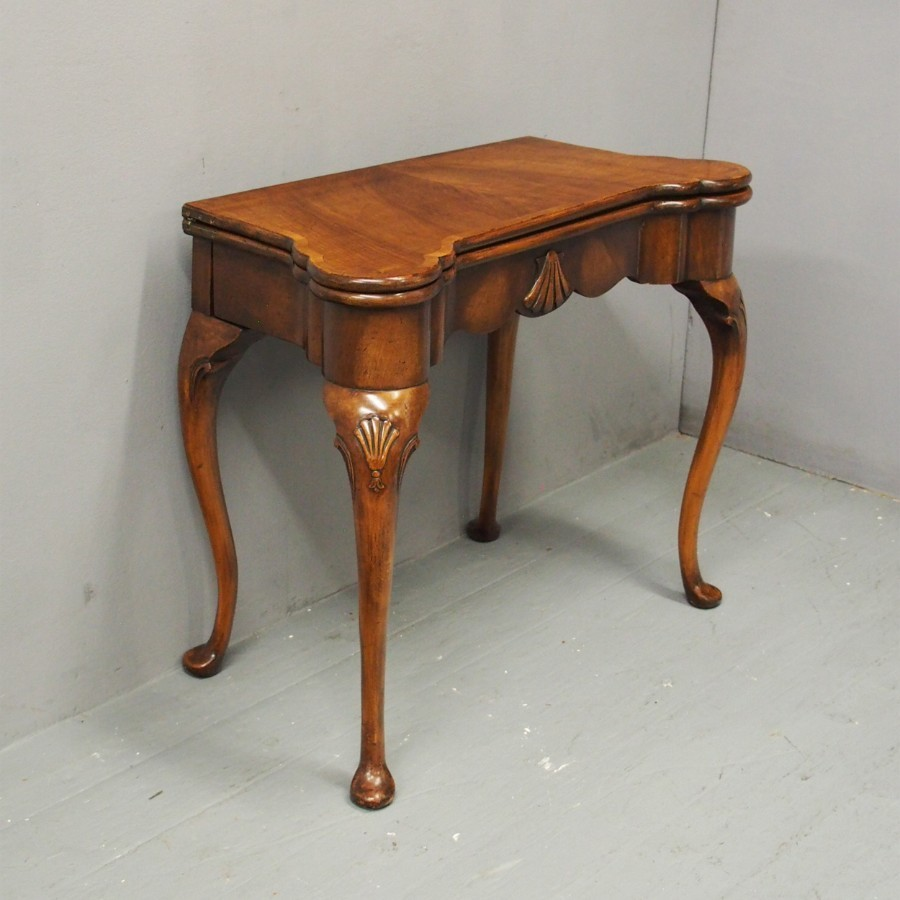 George I Style Walnut Games Table