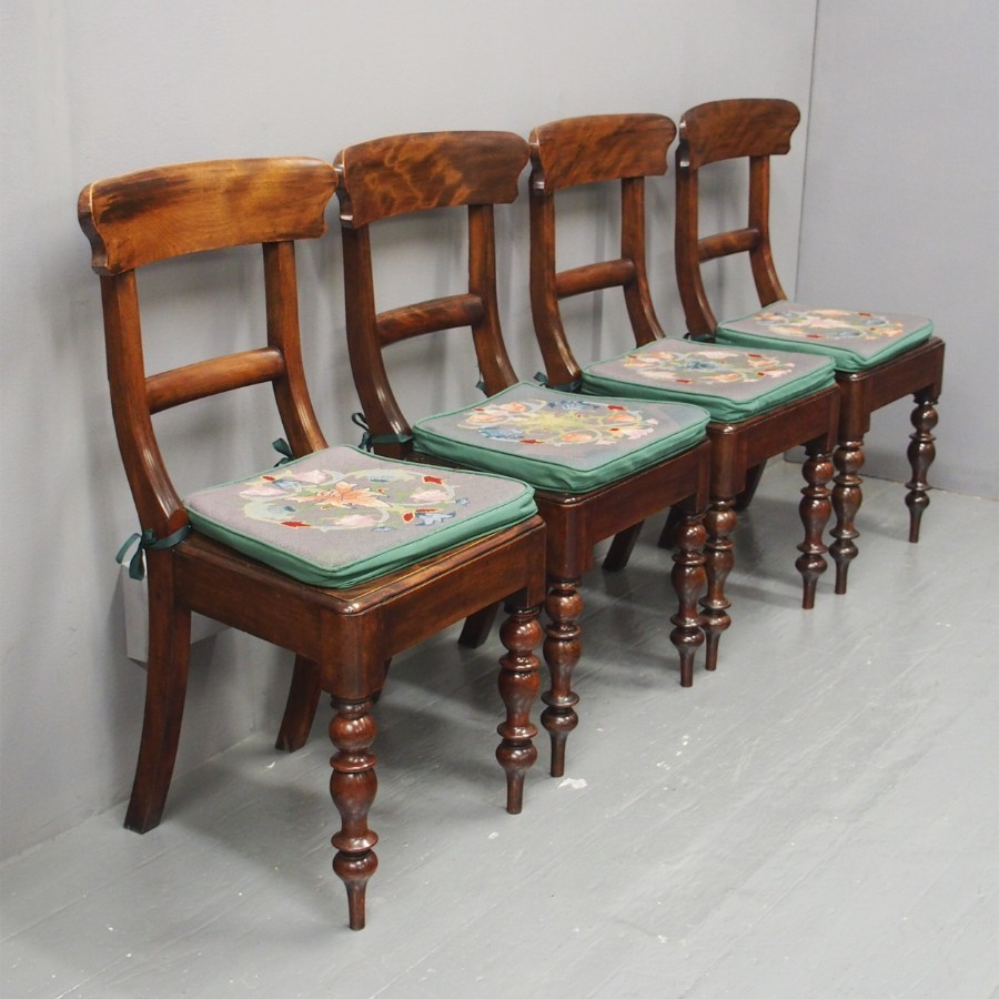 Set of 4 Scottish Beech Country Chairs