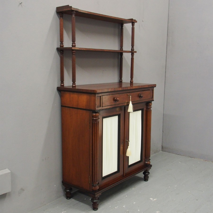 Regency Mahogany and Ebonised Chiffonier