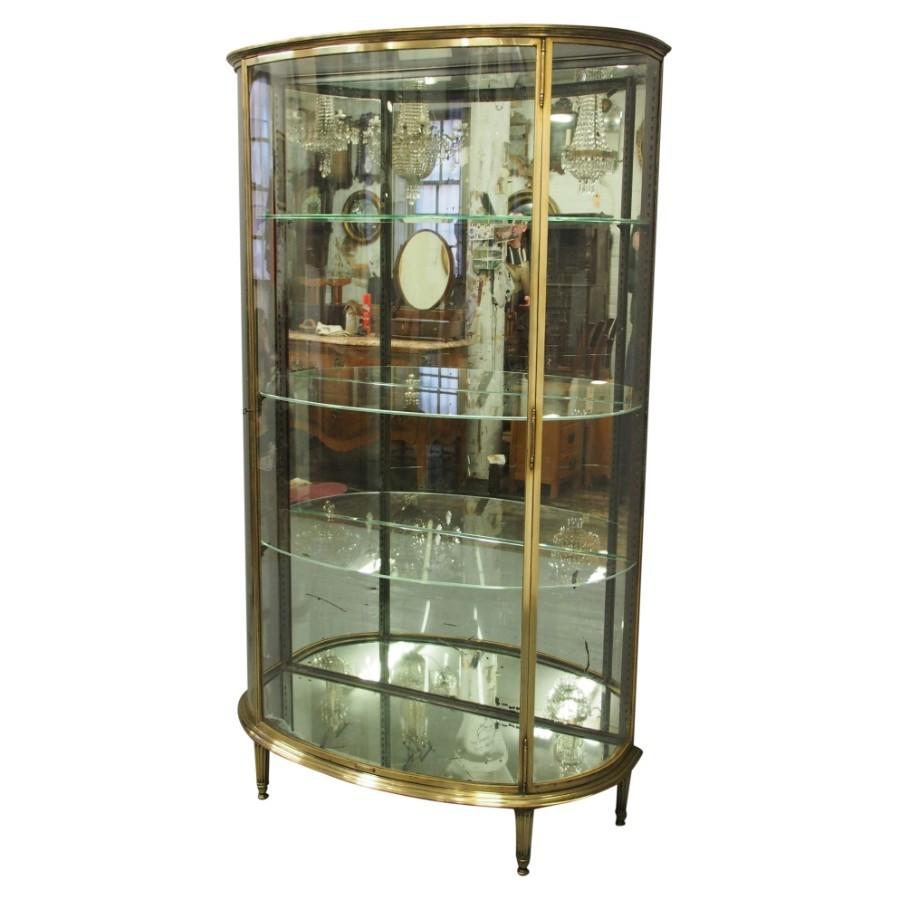 French Brass Display Case by Siegel of Paris