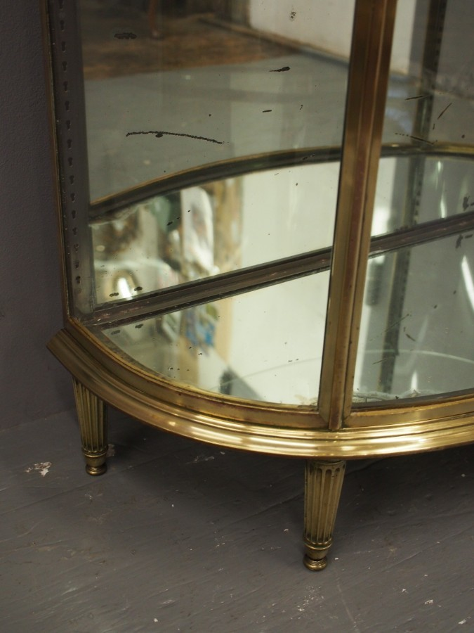 Antique French Brass Display Case by Siegel of Paris