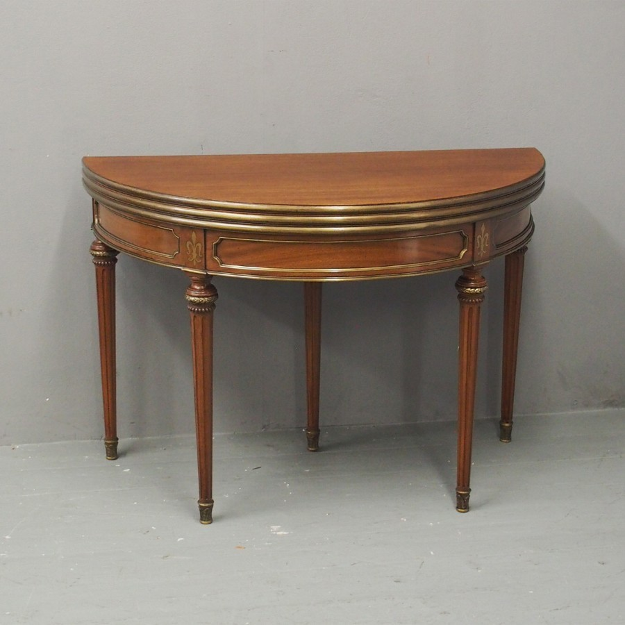 French Regency Style Double Top Tea Table / Card Table