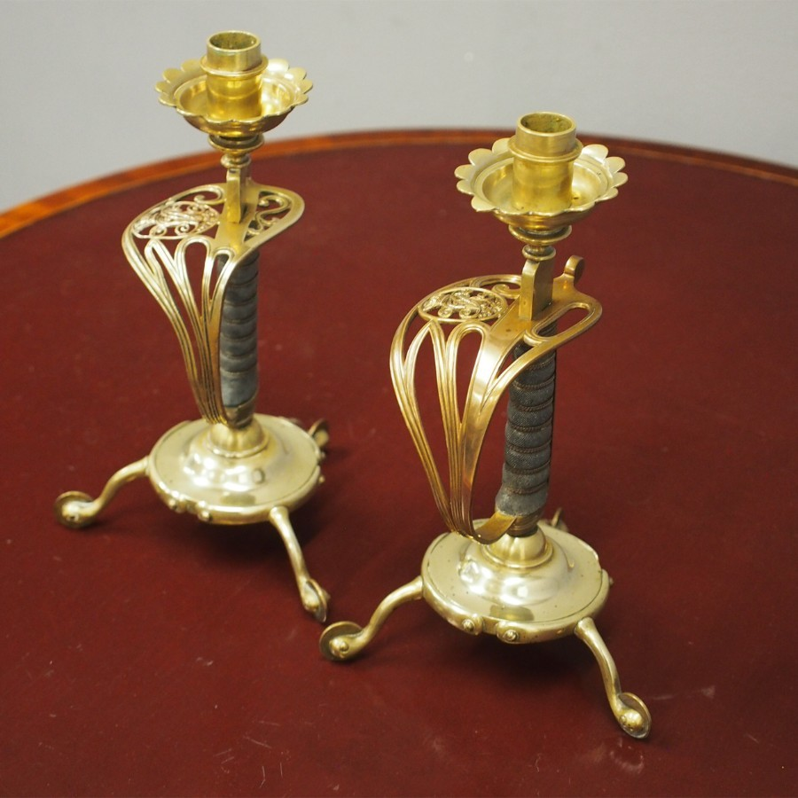 Pair of Candlesticks Formerly Officers Swords