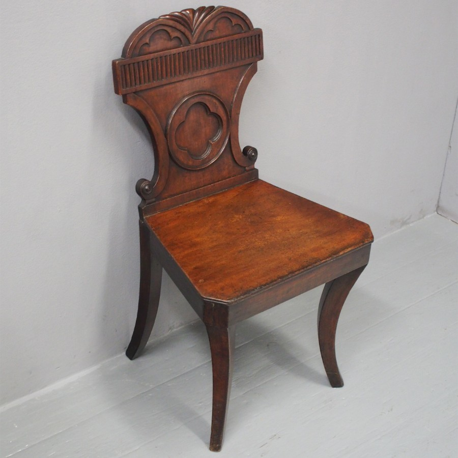 George III Mahogany Hall Chair
