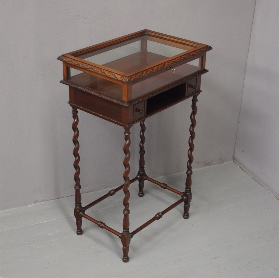 Unusual Narrow Mahogany Display Table