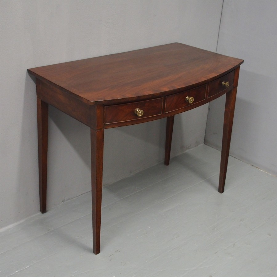 George III Bowfront Mahogany Side Table