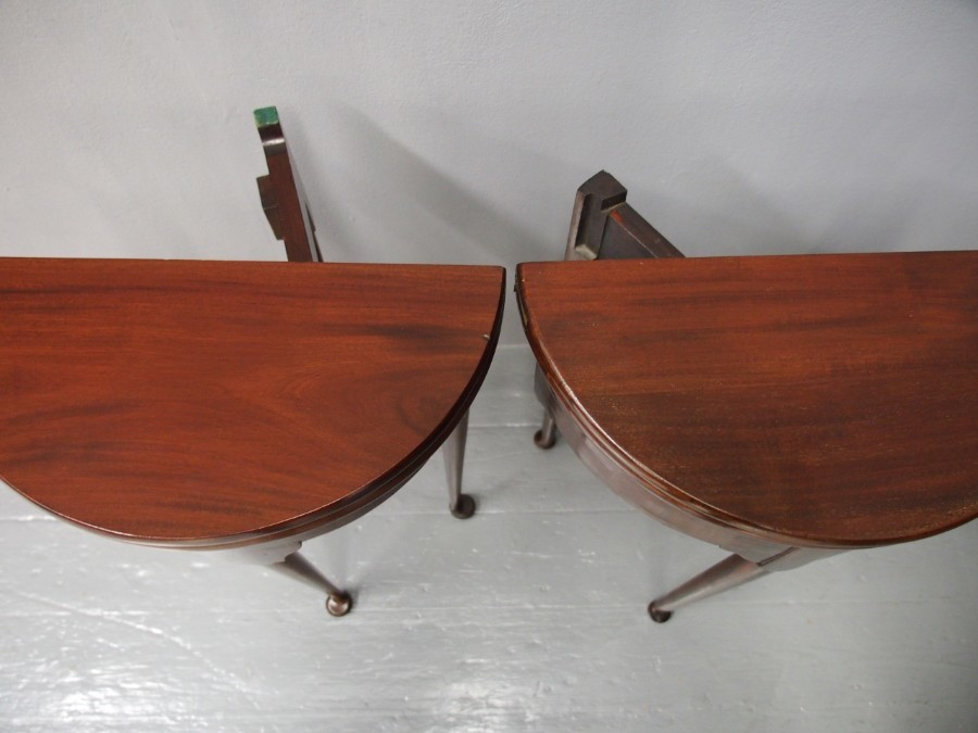 Antique Pair of George I Style Mahogany Side Tables
