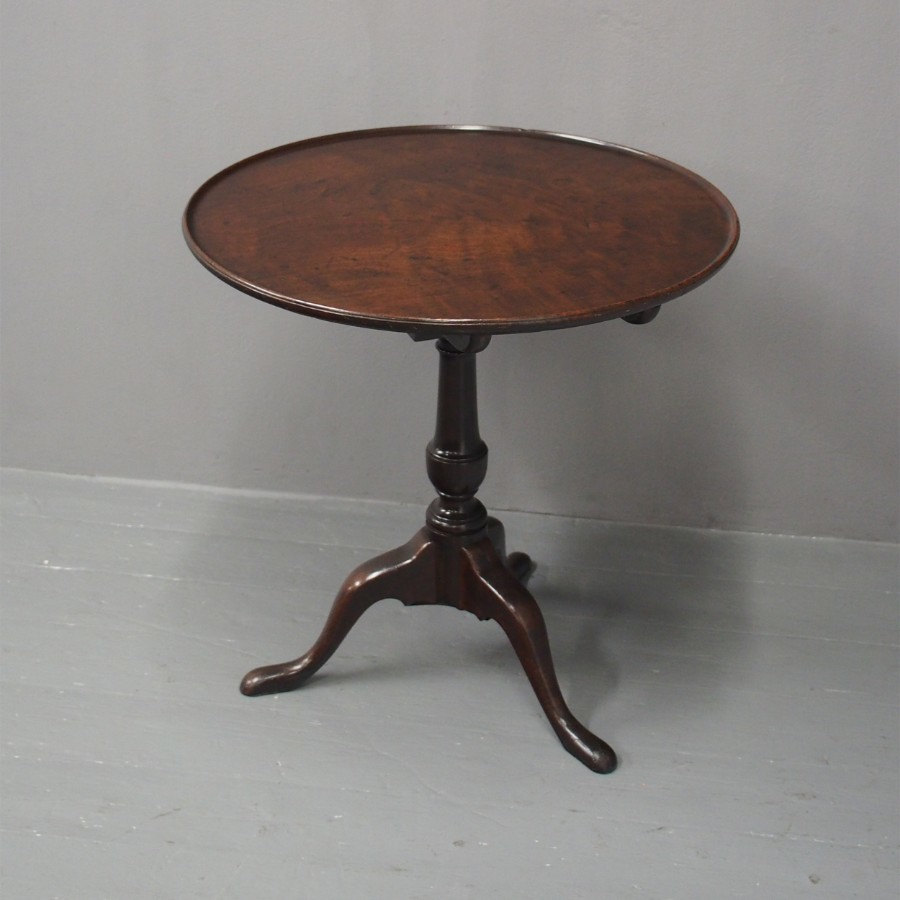George III Mahogany Snap Top Occasional Table
