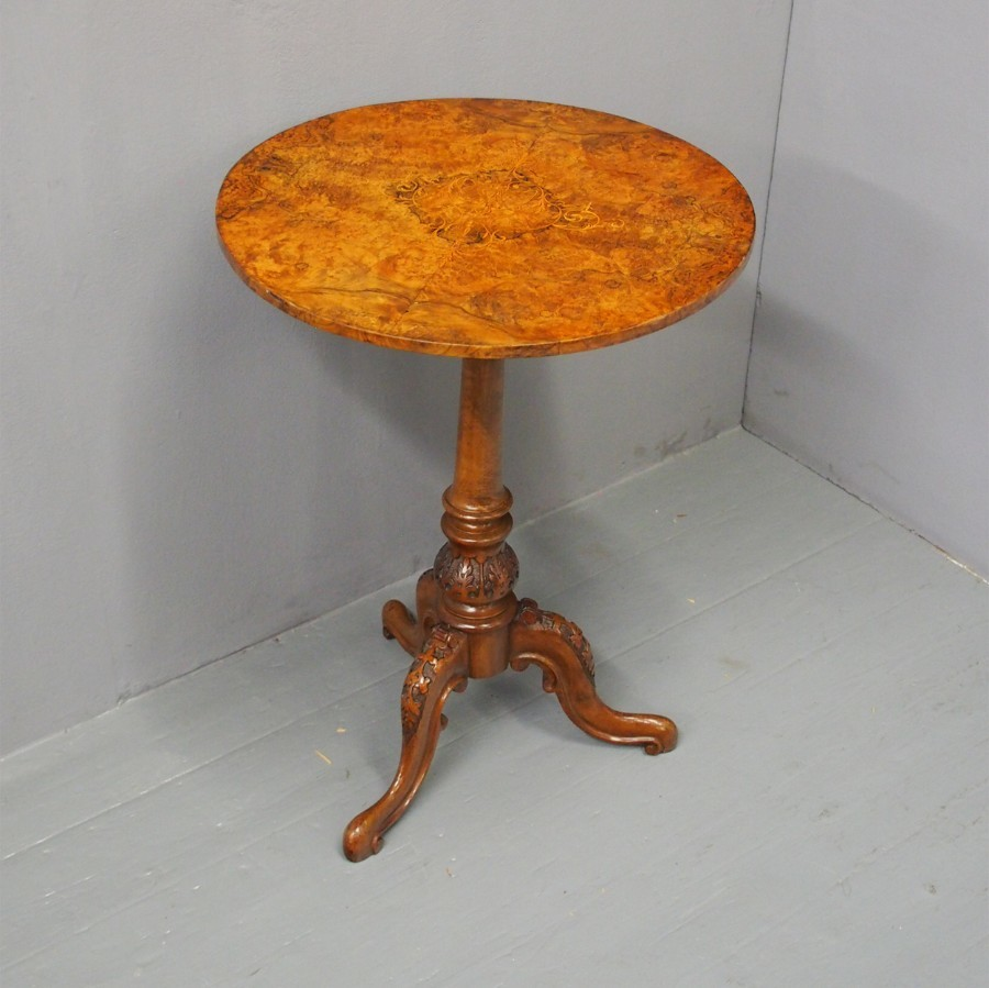 Burr Walnut and Inlaid Occasional Table