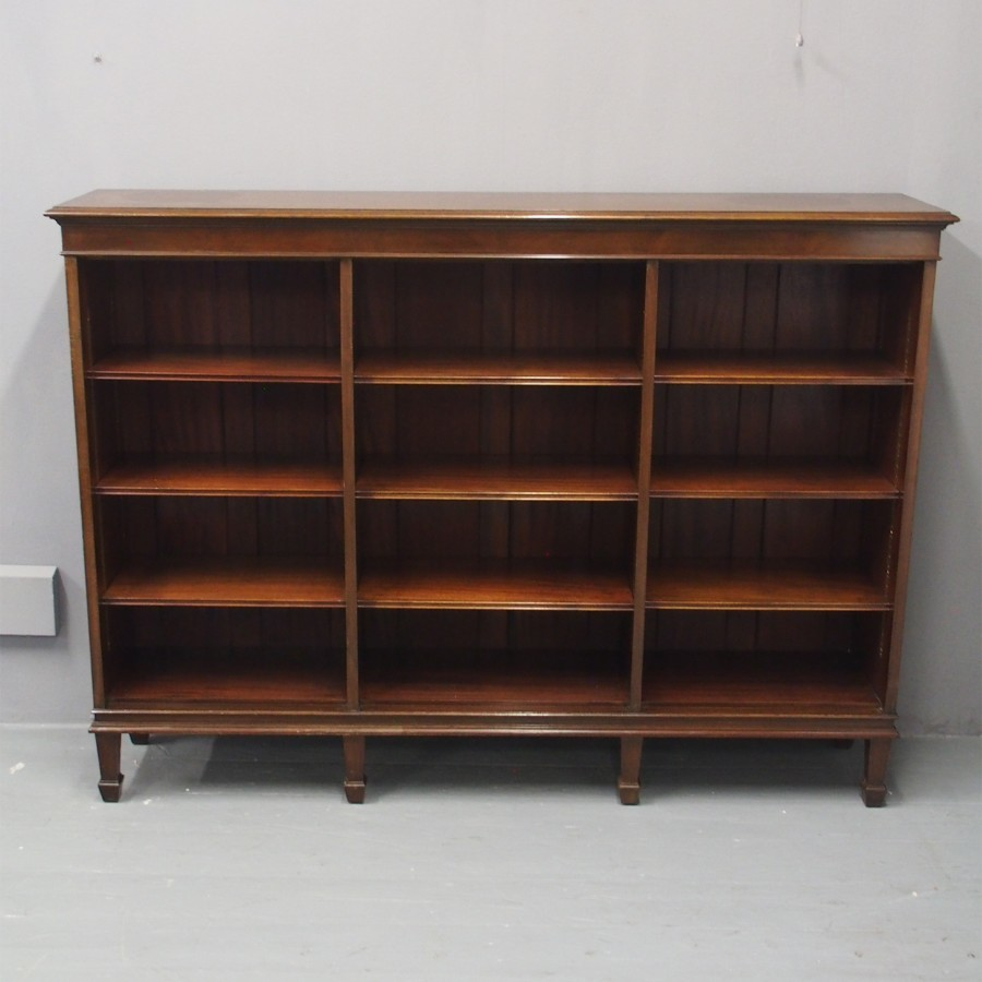 Mahogany Open Bookcase by Waring and Gillow