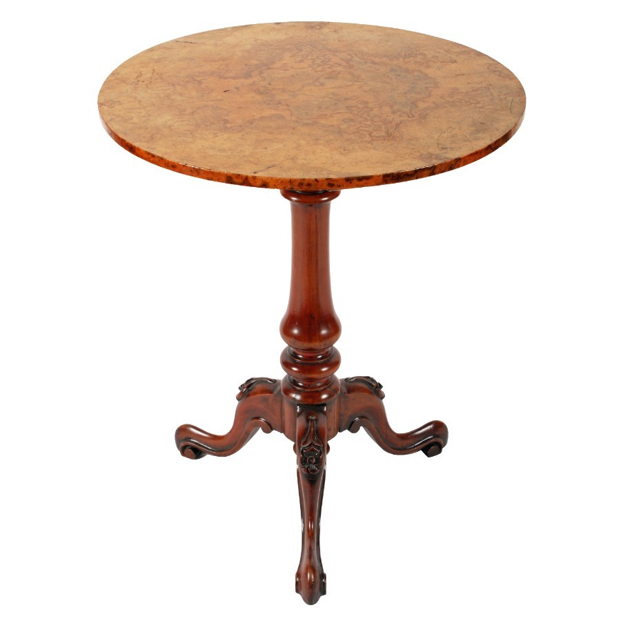 Walnut and Burr Walnut Occasional Table