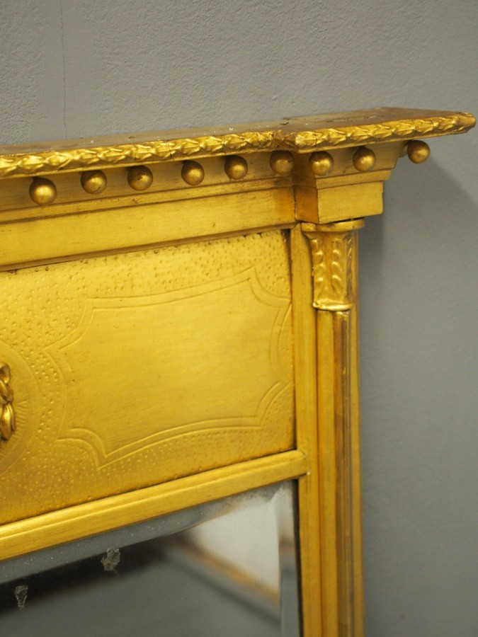 Antique George IV Gilded Mahogany Pier Mirror