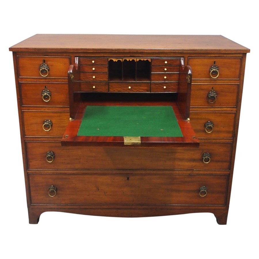 George IV Mahogany Secretaire Chest