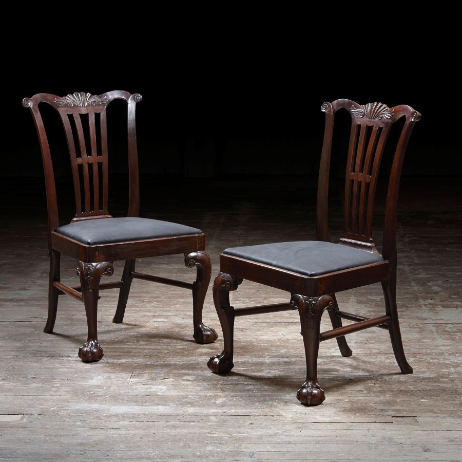 Pair of Dining Chairs Attributed to Alexander Peter
