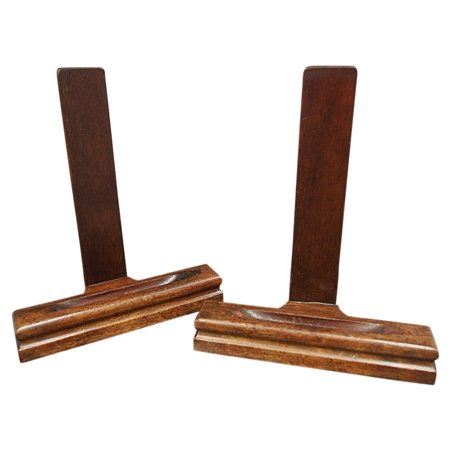 Pair of Mahogany Plate Stands