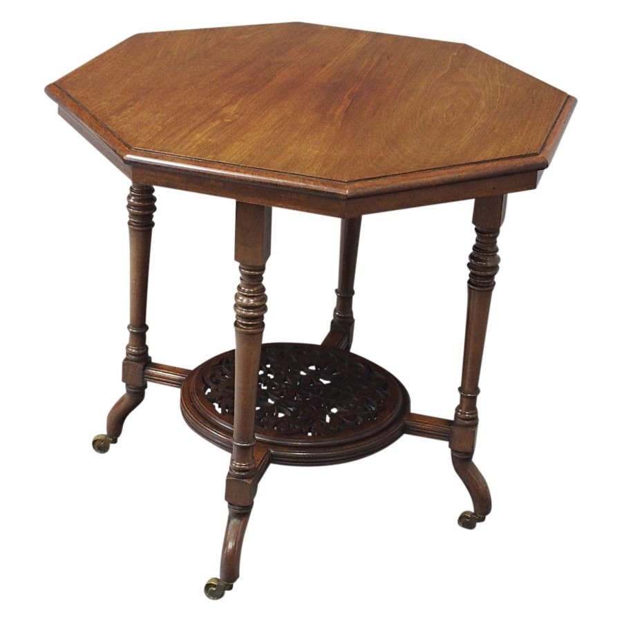 Octagonal Walnut Occasional Table