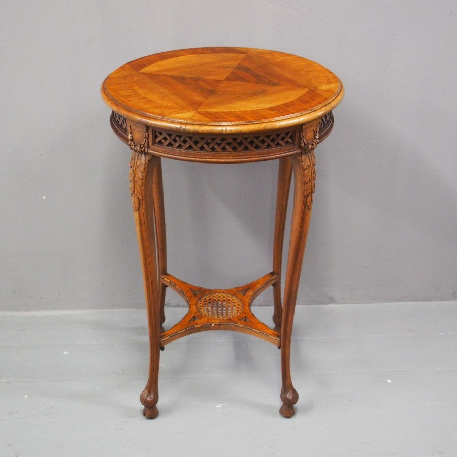 Late Victorian French Walnut Occasional Table
