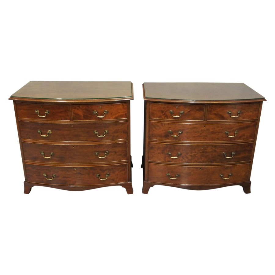 Pair of George III Style Mahogany Chest of Drawers