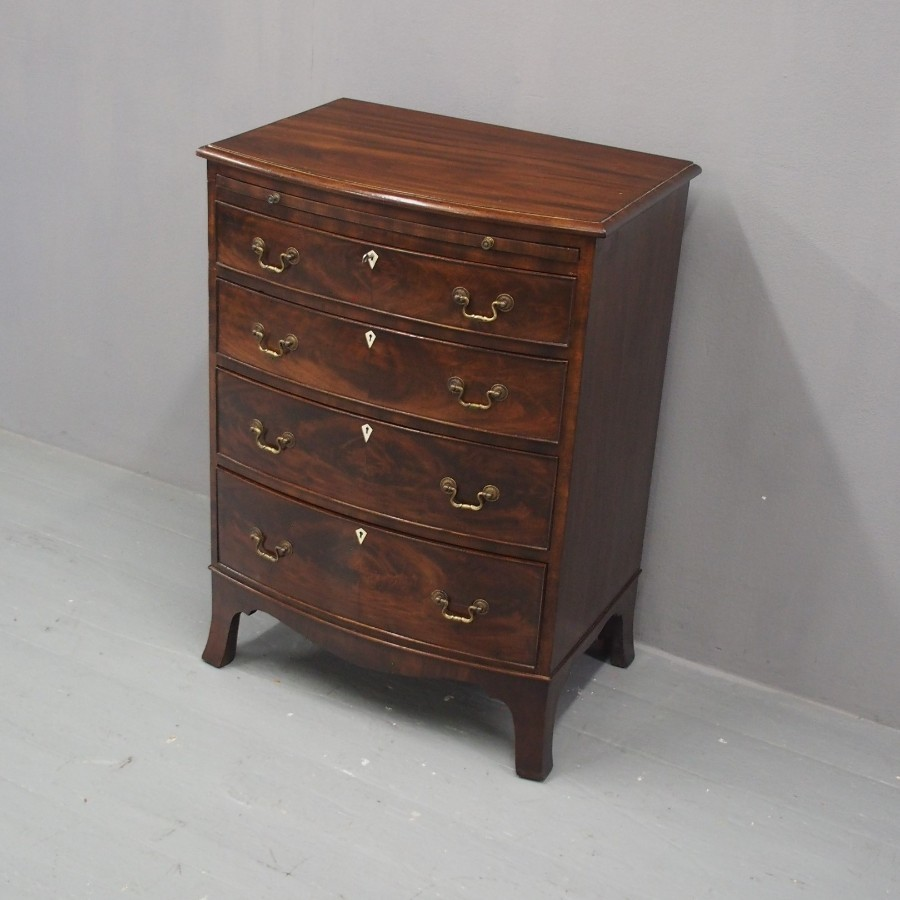 Small George III Style Bowfront Chest of Drawers