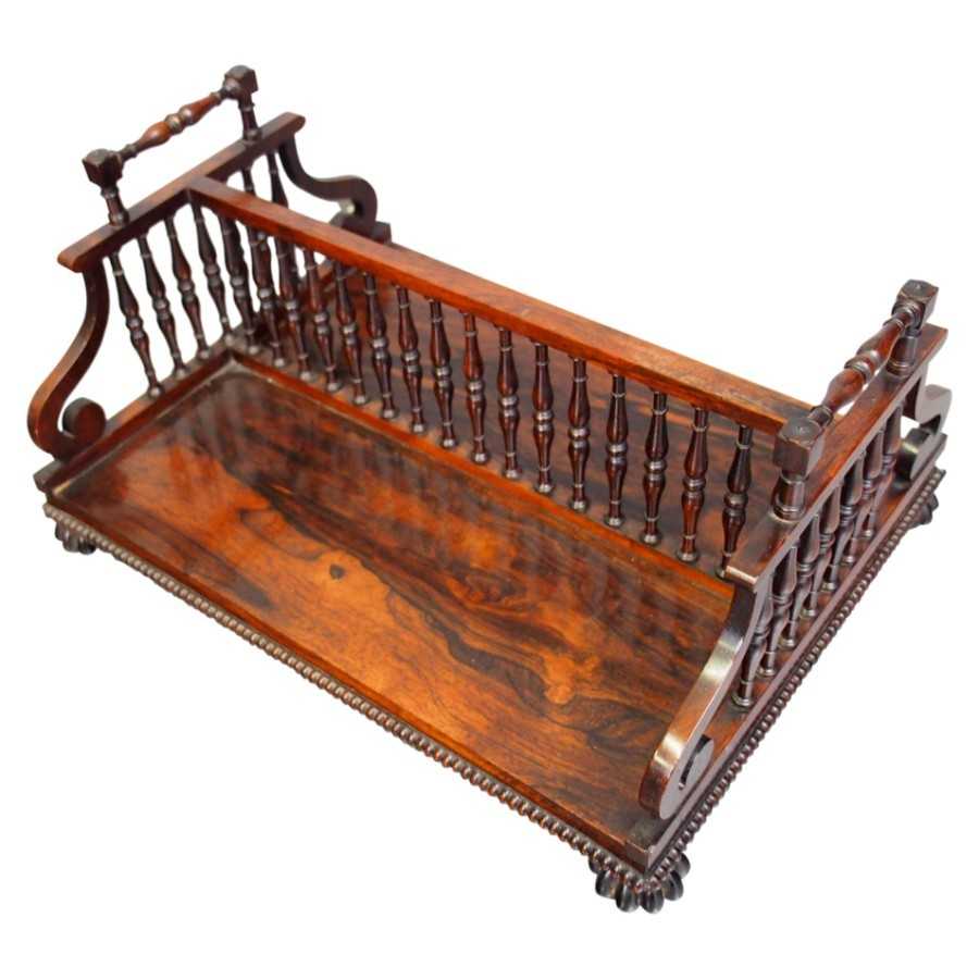 Rosewood Book Trough Attributed to Gillows