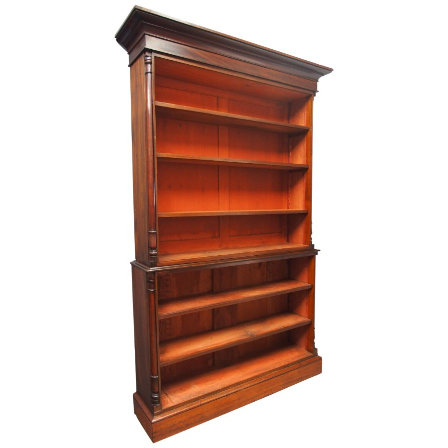 William IV Mahogany Open Bookcase