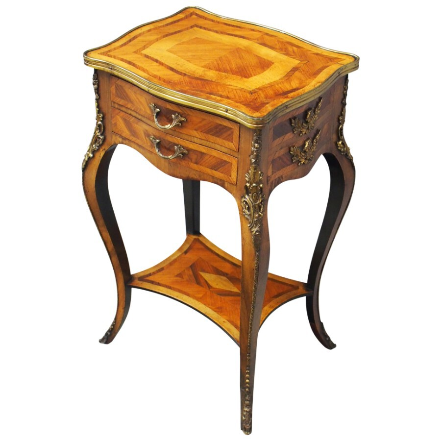 French Kingwood and Walnut Side Table