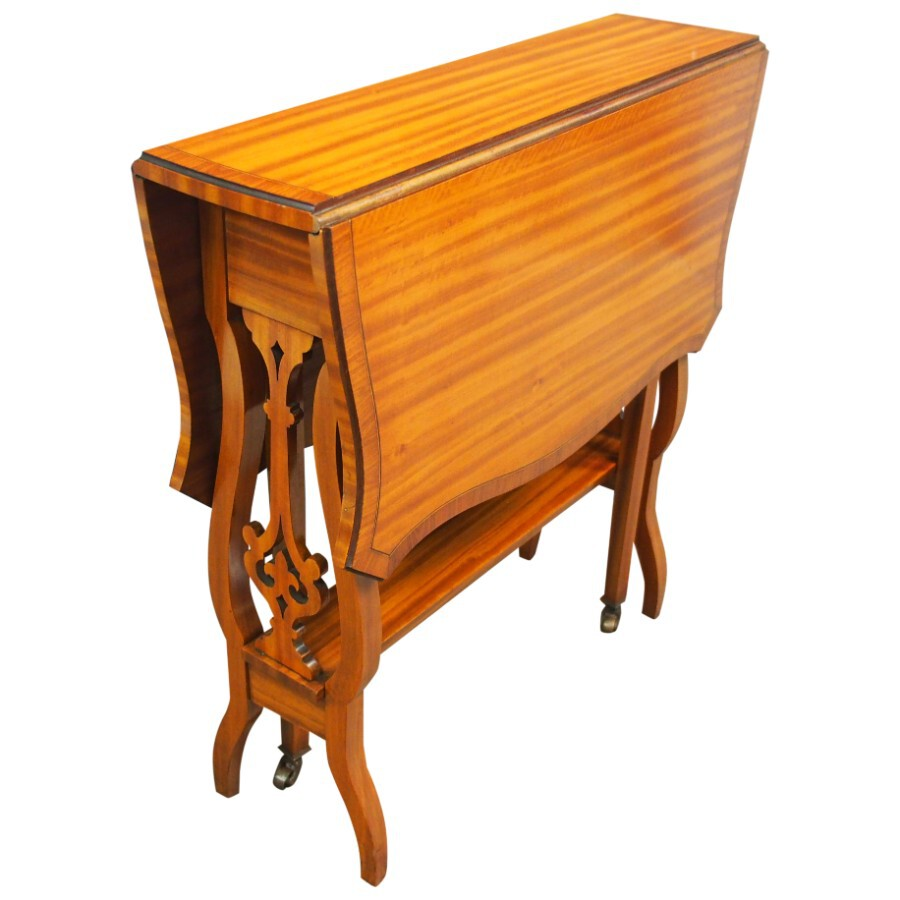 Satinwood Butterfly Shaped Sutherland Table