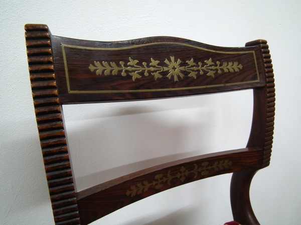 Antique Set of 12 Scottish Regency Rosewood Dining Chairs