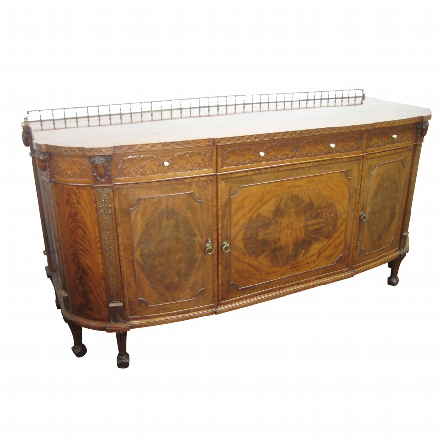 Morison & Co Carved Mahogany Sideboard