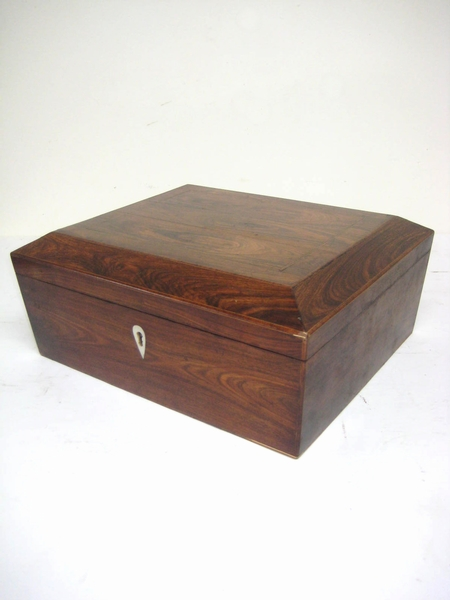 Regency Inlaid Rosewood Tea Caddy