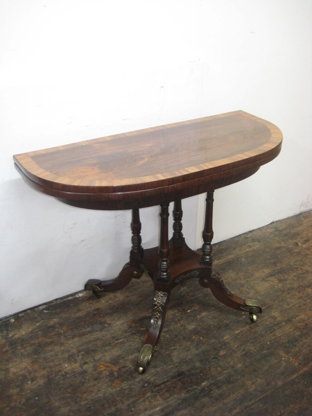 Regency Demi Lune Foldover Tea Table