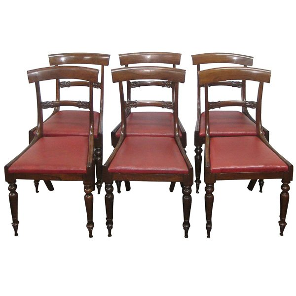 Set of 6 Regency Dining Chairs